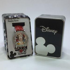 Disney Mickey & Minnie Watch With Charms (NWT)